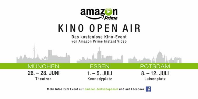 Amazon Prime Instant Video bedankt sich bei Kunden mit kostenlosen Kino Open Air-Events ab dem 26. Juni