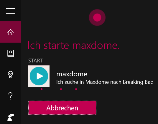 maxdome App für Windows 10