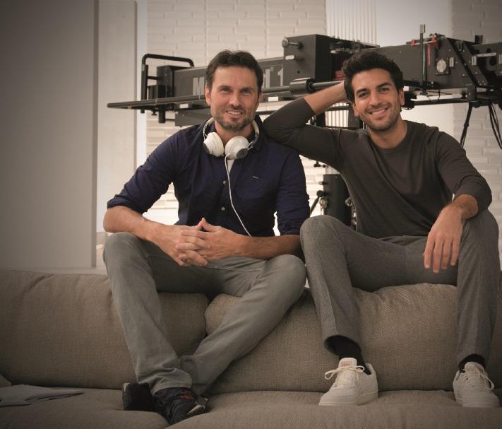 Regisseur Simon Verhoeven und Elyas M'Barek (v.l.n.r.) © Sky - Daniel Bader