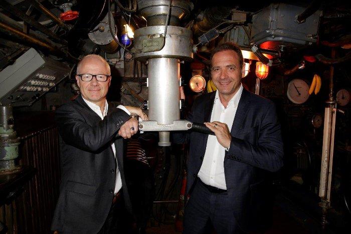 Dr. Christian Franckenstein, CEO Bavaria Film GmbH (links) und Carsten Schmidt, CEO Sky Deutschland (rechts) © Sky
