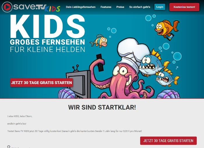 Kindgerechtes Fernsehen mit Save.TV: Neues KIDS-Paket ab heute erhältlich