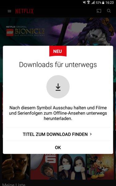 Start der neuen Netflix App