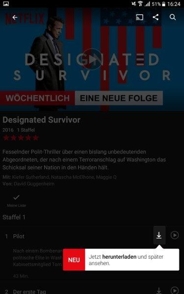 Der Download-Button, mit dem ihr den Titel offline verfügbar machen könnt.